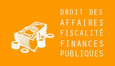 Droit des affaires, fiscalité et finances publiques